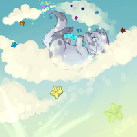 Falling Stars .:Speedpaint:. by xx-shooting-stars-x