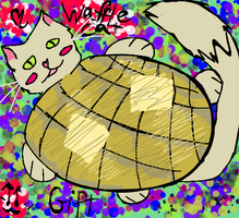 Wafflecat! gift by Art-game-lover