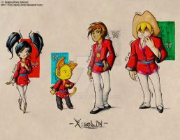 XS: Xiaolin Group Print by DeAnimeJ