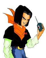 dragon ball Z Android 17 by jerome13001