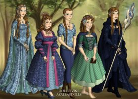 Me as all the races of Middle Earth by LadyAquanine73551