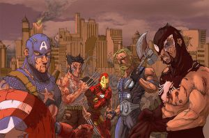 The last Avengers by soyhector