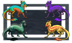More Baby Dragons by ResidualAdopts