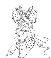 chibi moon adult line art by egaoxxxlotje