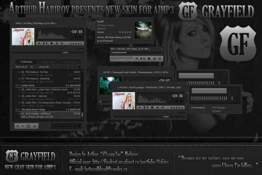 Grayfield - skin for AIMP3 by d1sapp3ar