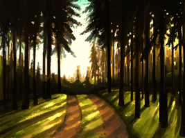 Tree Line Speedpainting by Lachtaube