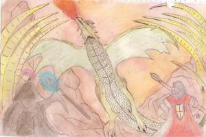 My Drawing Dragon attack by HesterK