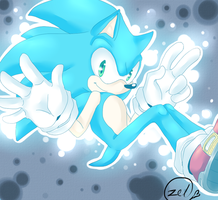 sonic the hedgehog by zeldaprincessgirl100
