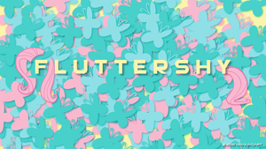 Fluttershy and Butterflies WP by nsaiuvqart