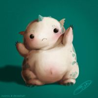 Chubby monster by Jundou