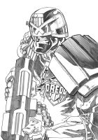 Judge Dredd Greywash with BFG by pauljholden