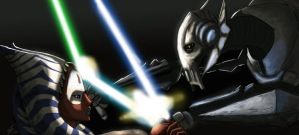 Shaak ti vs General Grievous by Raikoh-illust