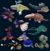 Spore Sea Monsters by Monster-Man-08