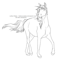 Free Mare Lineart by CatLuvsCookies