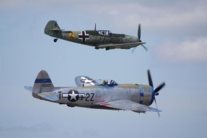 P-47, Bf109 flyby by shelbs2