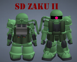 SD Zaku II by lordvipes