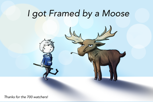 Framed by a Moose by LivingAliveCreator