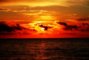 Sunset over the Baltic Sea ... by AgataSwat
