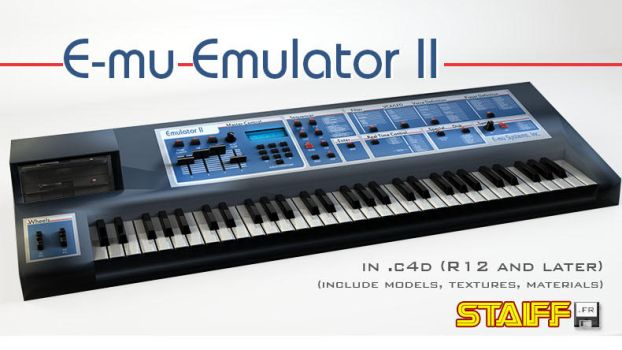 E-mu Emulator II 3D model by staiff