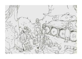 Russian Soldiers. - Lineart by Charneco