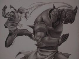 Ed and Alphonse Spar by LoneWolfKetsueki
