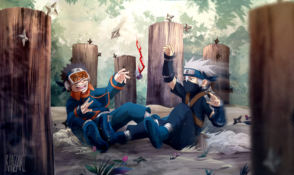 Kakashi vs Obito by kanzzzaki