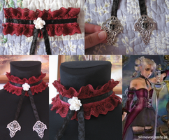 Gothic collar details by Silmeven