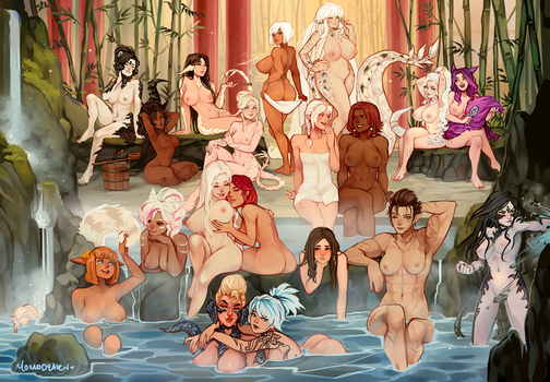 co: Dragon's Crown - Hot spring trip by Momo-Deary