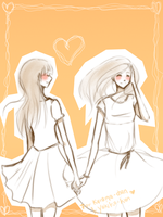 for two lovely girls by Niji-iro