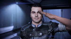 Mass Effect 3 - Kaidan Salutes You by loraine95