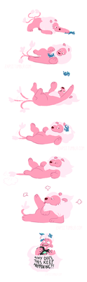 Lion Plays With His Food (Comic) by Zapsi