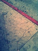 Cracked, like a sidewalk by kookookitty