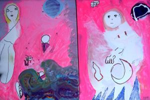Existential Others Diptych by drewschermick