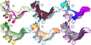 Dragon Foxes For Sale2: OPEN by Pand-ASS