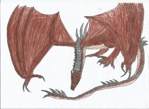 Smaug by smaugthegolden123