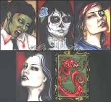 Sketch Cards for Charity by ConnieFaye