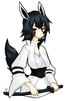 gijinka -- mightyena by silentsasuke