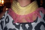 WIP MLP: Fluttershy Themed Infinity Scarf by MPerryPhotography