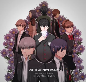 Happy 20th Anniversary Persona series! by ama-chii