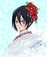 speed sketch of rukia by ShaniNeko