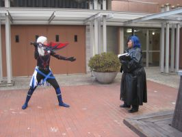Replica Riku Vs. Zexion by SunSet-IceCream