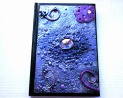Purple dragon eye polymer clay journal by designsbyjo