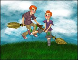 fred and george by Miyazaki-A2