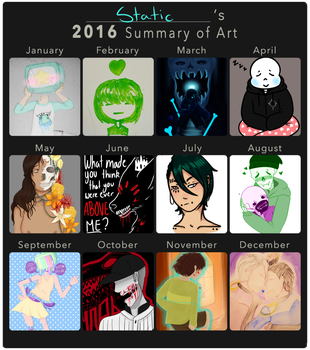 2016 Art Summary by stars-and-static