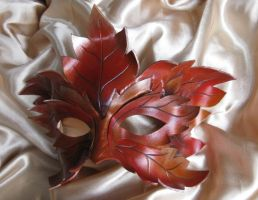 Autumn King  Leather Mask.. by xothique