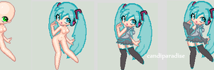 First pixel ever~! by candiparadise