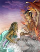 The two distant lovers by MythicMeztli
