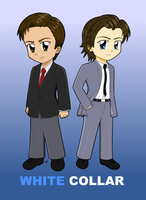 White Collar Chibis 1 by dyzzispell