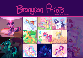 Bronycon Print Set by pekou