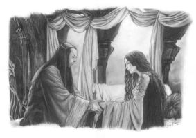 Elrond and Arwen by Elven-38-Stone